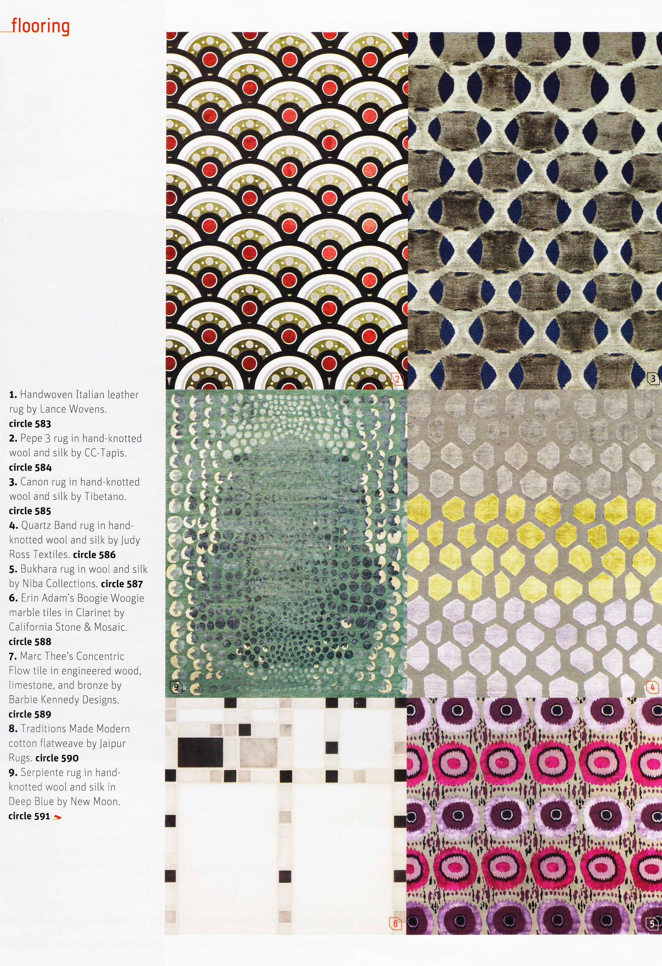 Our Quartz Band Rug Featured In Interior Design Market Tabloid Is Available Custom Sizes And Colorways Contact Studio For All