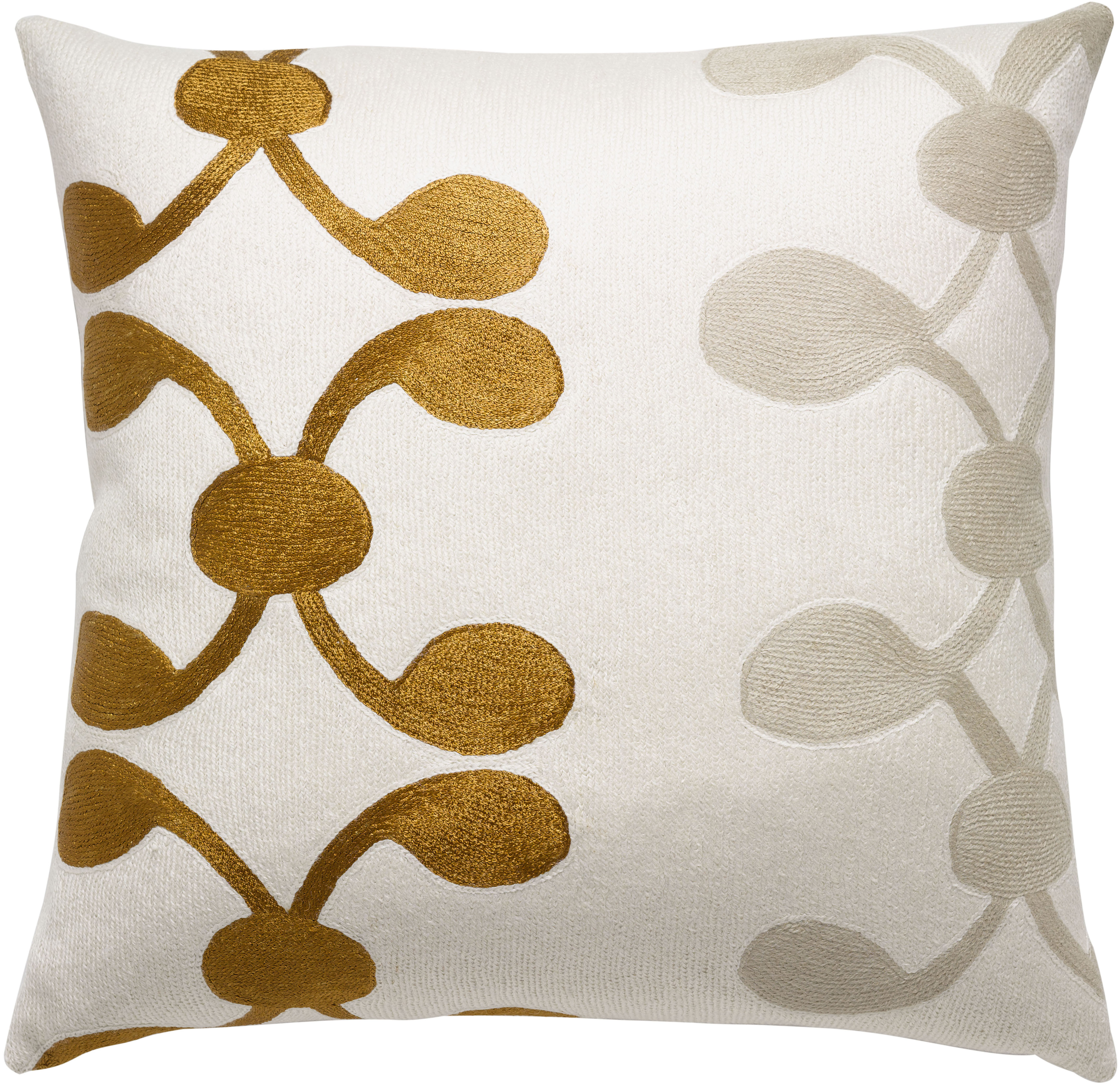 Hand Embroidered Chain Stitch Pillows 18x18 Celine Judy Ross Textiles