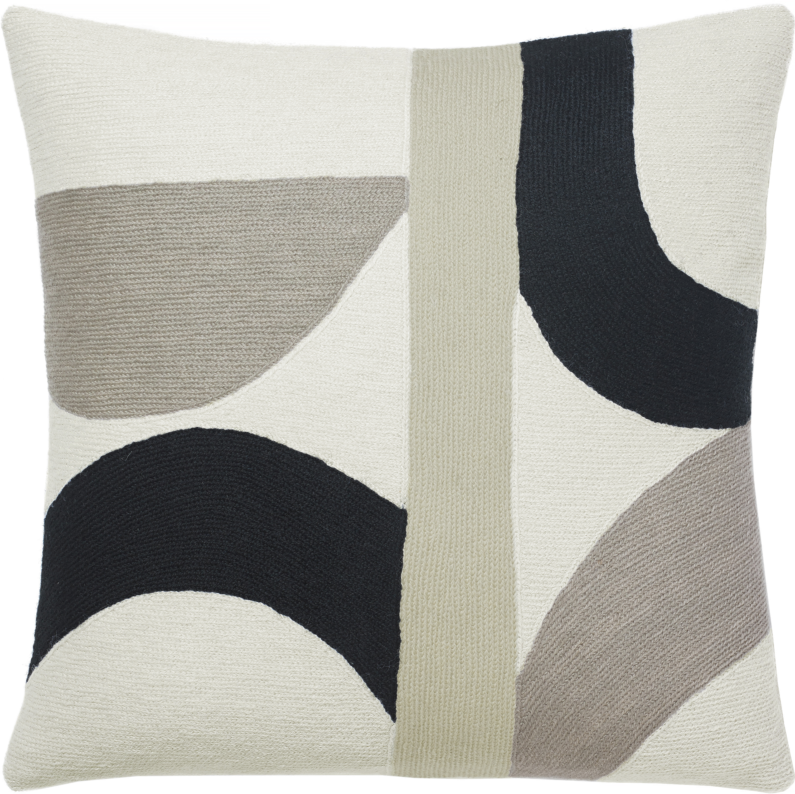 Hand Embroidered Chain Stitch Pillows 18x18 Eclipse Judy Ross Textiles