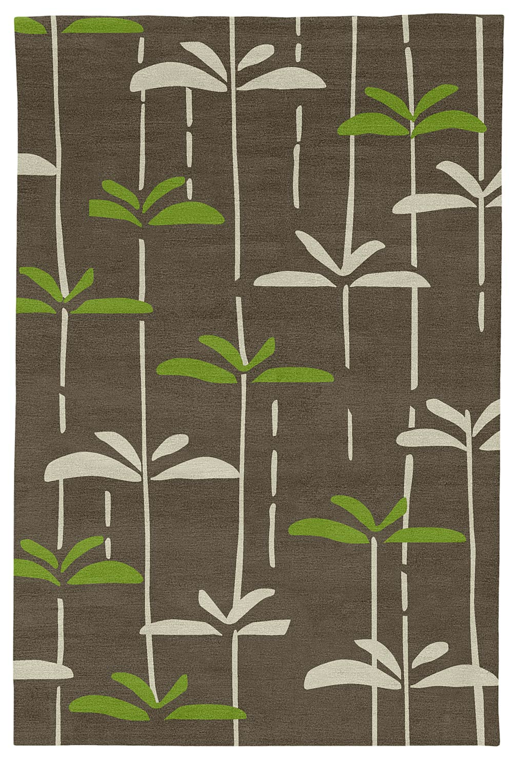 Judy Ross Hand Knotted Custom Wool Dragonfly Rug Iron/parchment/lime