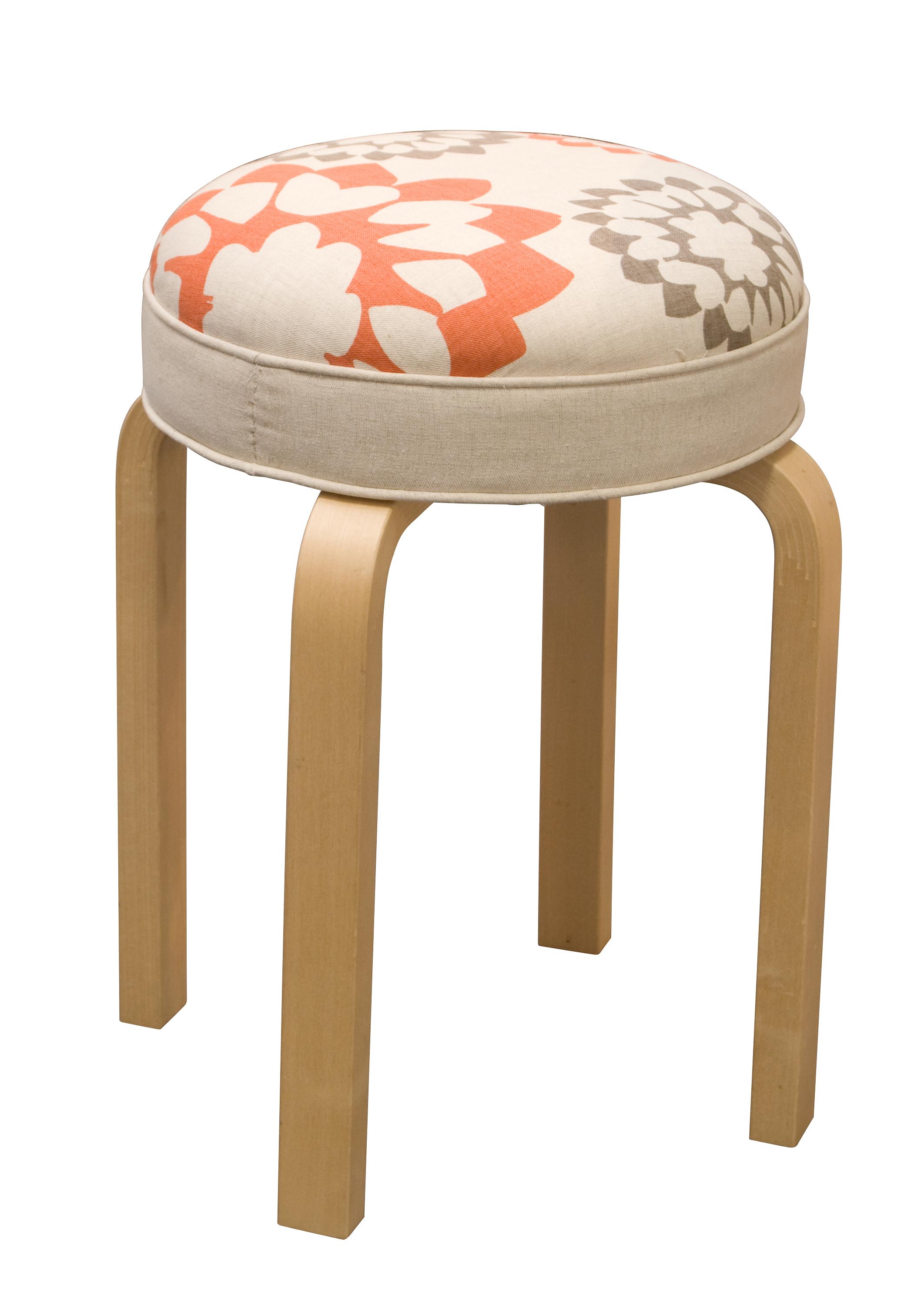 Furniture Stool Carousel Linen Judy Ross Textiles