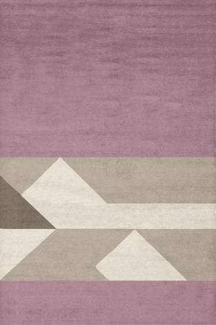 Judy Ross Hand-Knotted Custom Wool Boundary Rug dusty pink/blonde/stone/cream