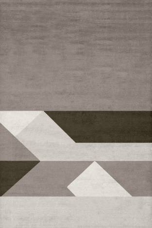Judy Ross Hand-Knotted Custom Wool Boundary Rug smoke/cream/iron/oyster