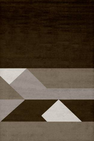 Judy Ross Hand-Knotted Custom Wool Boundary Rug smoke/oyster/pewter/fig