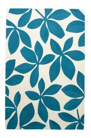 Chain Stitch Rugs and Runners Fauna Chain Stitch Rugs and Runners cream/tropical blue