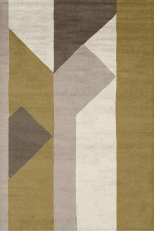 Judy Ross Hand-Knotted Custom Wool Perspective Rug raw ochre/cream/blonde/stone