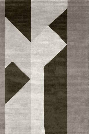 Judy Ross Hand-Knotted Custom Wool Perspective Rug smoke/cream/iron/oyster