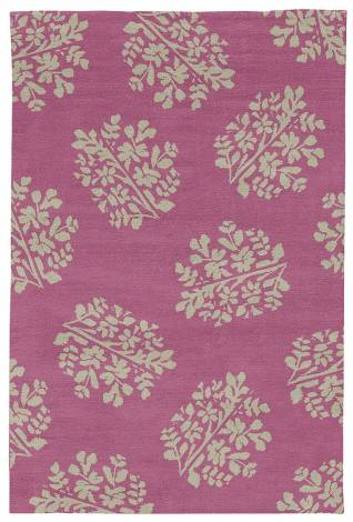 Judy Ross Hand-Knotted Custom Wool Bouquet Rug hibiscus/putty