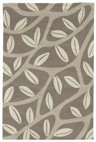Judy Ross Hand-Knotted Custom Wool Branches Rug smoke/putty/parchment
