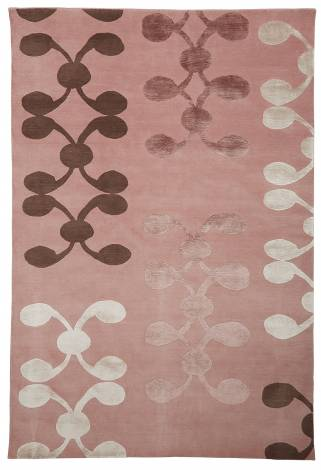 Judy Ross Hand-Knotted Custom Wool Celine Rug powder pink/graphite/mulberry silk/ice silk