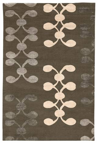 Judy Ross Hand-Knotted Custom Wool Celine Rug iron/smoke silk/nude silk/iron silk