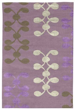 Judy Ross Hand-Knotted Custom Wool Celine Rug mauve/stone/parchment silk/lilac silk