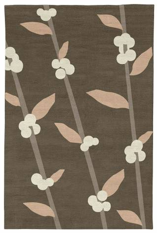 Judy Ross Hand-Knotted Custom Wool Coffee Tree Rug iron/nude/parchment/smoke