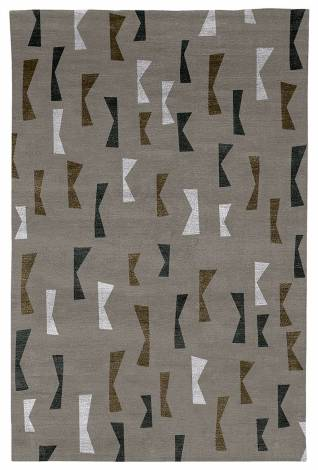 Judy Ross Hand-Knotted Custom Wool Confetti Rug silver/fig silk/charcoal silk/ice silk