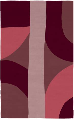 Judy Ross Hand-Knotted Custom Wool Eclipse Rug salmon/rose/mulberry/burgundy