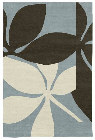 Judy Ross Hand-Knotted Custom Wool Fauna Rug celadon/fig/parchment