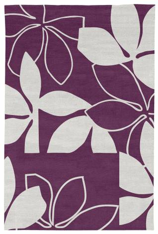 Judy Ross Hand-Knotted Custom Wool Flora Rug claret/cream