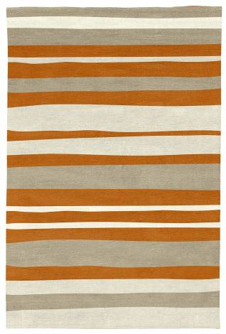 Judy Ross Hand-Knotted Custom Wool Horizon Rug melon/oyster/cream