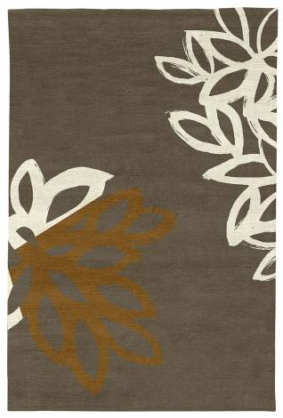 Judy Ross Hand-Knotted Custom Wool Lagoon Rug iron/parchment silk/auburn
