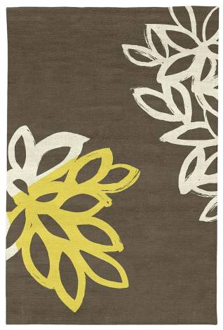 Judy Ross Hand-Knotted Custom Wool Lagoon Rug iron/parchment silk/yellow