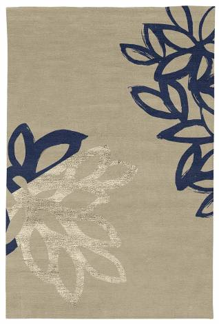 Judy Ross Hand-Knotted Custom Wool Lagoon Rug oyster/midnight/oyster silk