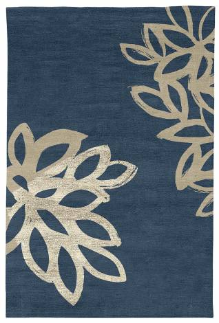 Judy Ross Hand-Knotted Custom Wool Lagoon Rug robin/oyster/oyster silk