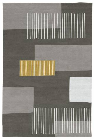 Judy Ross Hand-Knotted Custom Wool Level Two Rug grey/cream/curry/melon