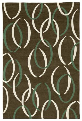 Judy Ross Hand-Knotted Custom Wool Links Rug fig/moss/ivory