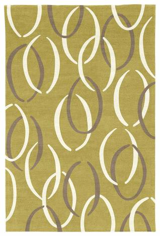 Judy Ross Hand-Knotted Custom Wool Links Rug pollen/cream/pewter