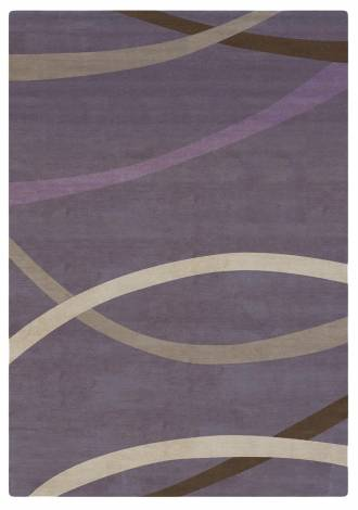 Judy Ross Hand-Knotted Custom Wool Loop Rug grape/pewter/oyster/lilac