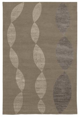 Judy Ross Hand-Knotted Custom Wool Necklace Rug pewter/pewter silk/graphite silk