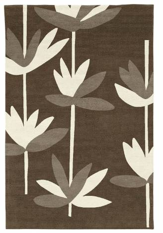 Judy Ross Hand-Knotted Custom Wool Palm Rug fig/ivory/pewter