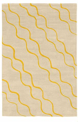 Judy Ross Hand-Knotted Custom Wool Parade Rug oyster/yellow