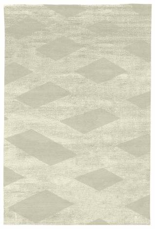 Judy Ross Hand-Knotted Custom Wool Plaid Rug parchment/parchment silk