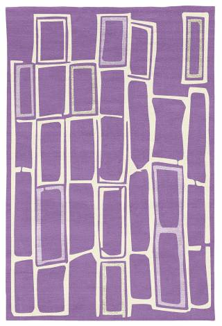 Judy Ross Hand-Knotted Custom Wool Procession Rug lilac/cream/lilac silk/parchment silk
