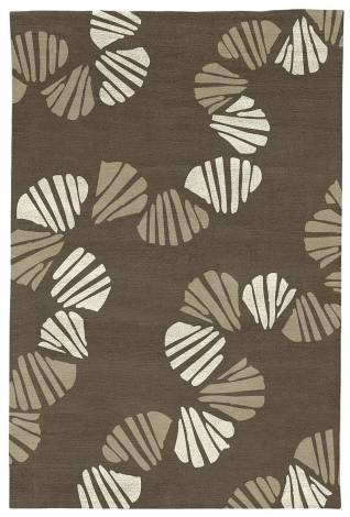 Judy Ross Hand-Knotted Custom Wool Shells Rug iron/parchment silk/oyster