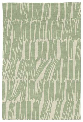 Judy Ross Hand-Knotted Custom Wool Static Rug parchment/celery