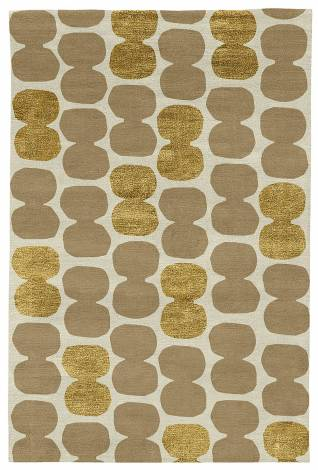 Judy Ross Hand-Knotted Custom Wool Tabla Rug parchment/oyster/gold silk