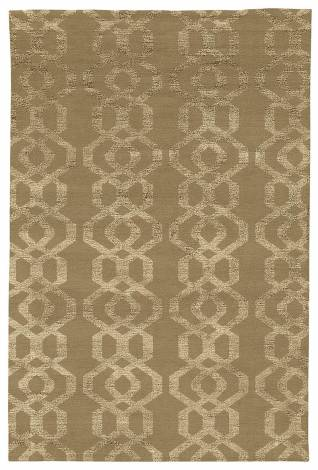 Judy Ross Hand-Knotted Custom Wool Trellis Rug blonde/blonde silk