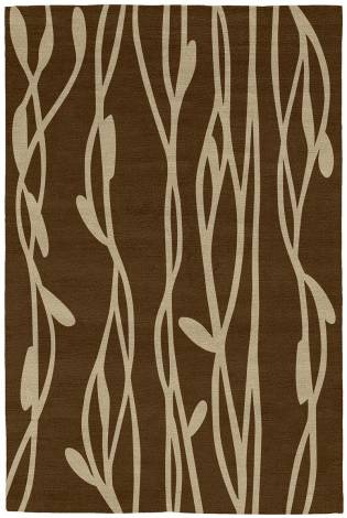 Judy Ross Hand-Knotted Custom Wool Vines Rug chestnut/blonde