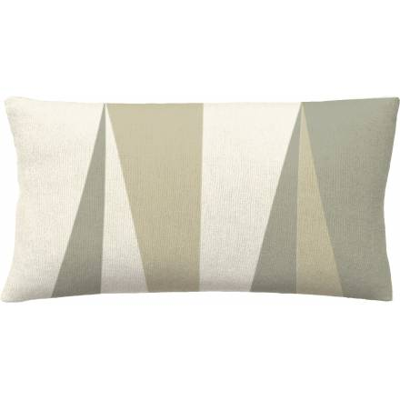 Judy Ross Textiles Hand-Embroidered Chain Stitch Blade 14x24 Throw Pillow cream/smoke/oyster