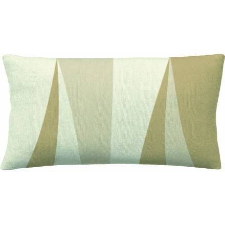 Judy Ross Textiles Hand-Embroidered Chain Stitch Blade 14x24 Throw Pillow cream/wheat/blonde