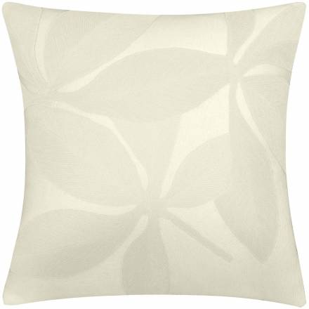 Judy Ross Textiles Hand-Embroidered Chain Stitch Fauna Throw Pillow cream/cream