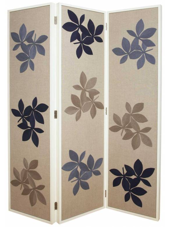 Judy Ross Textiles Hand-made Fauna Screen Furniture slate/navy/pewter