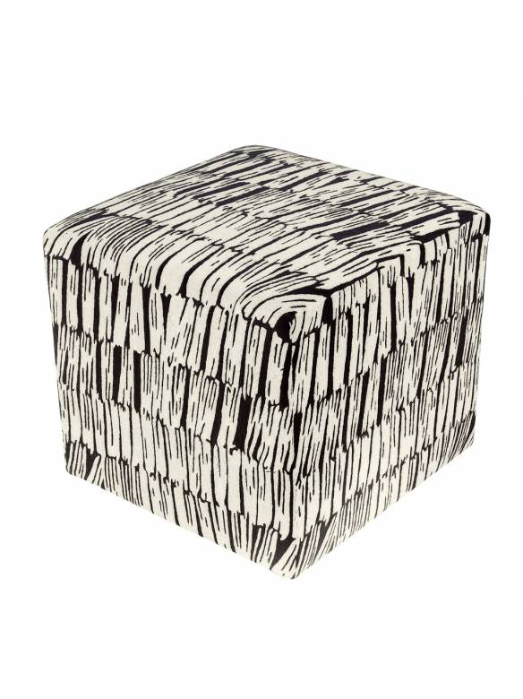 Judy Ross Textiles Hand-made Static Cube Furniture black/cream
