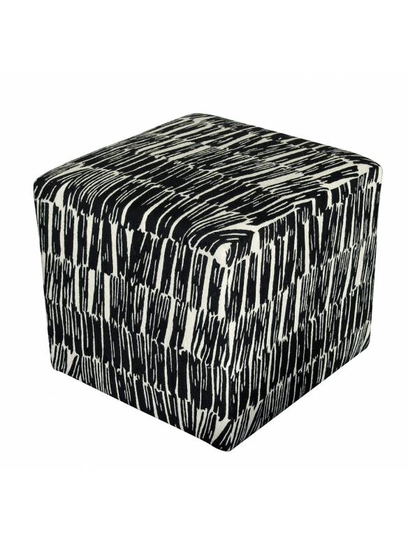 Judy Ross Textiles Hand-made Static Cube Furniture cream/black
