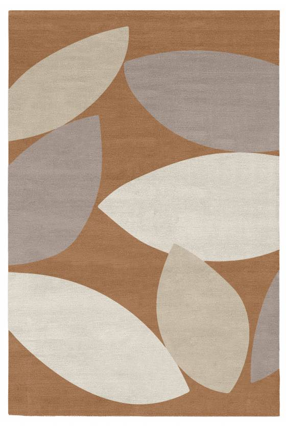 Judy Ross Hand-Knotted Custom Wool Petal Rug cream/ice/syren