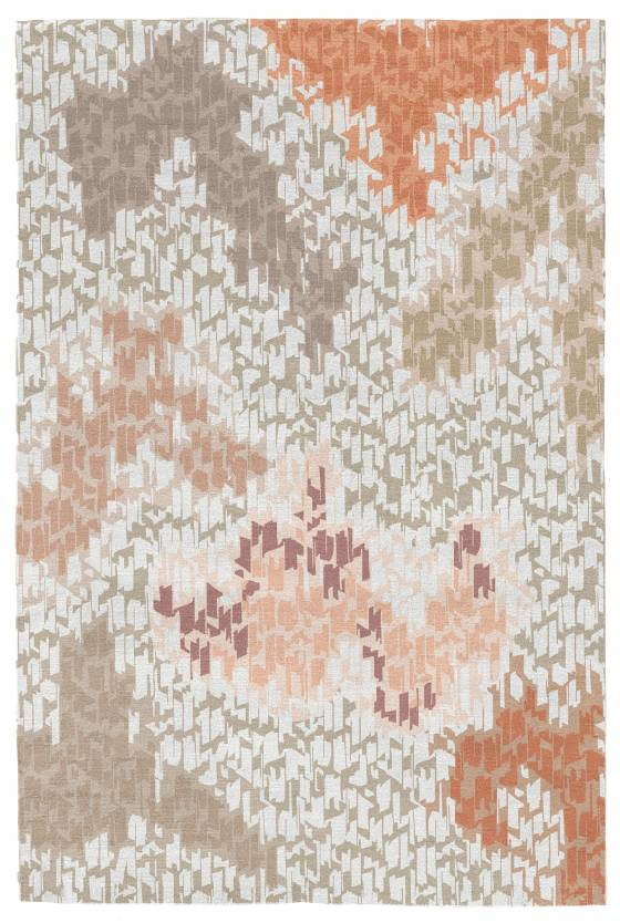 Judy Ross Hand-Knotted Custom Wool Tweed Rug earthenware