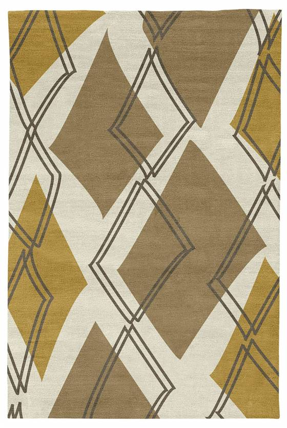 Judy Ross Hand-Knotted Custom Wool Argyle Rug oyster/hunter/cream