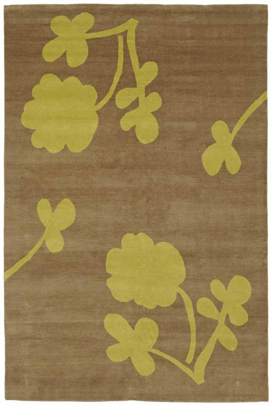 Judy Ross Hand-Knotted Custom Wool Clover Rug cerise/smoke
